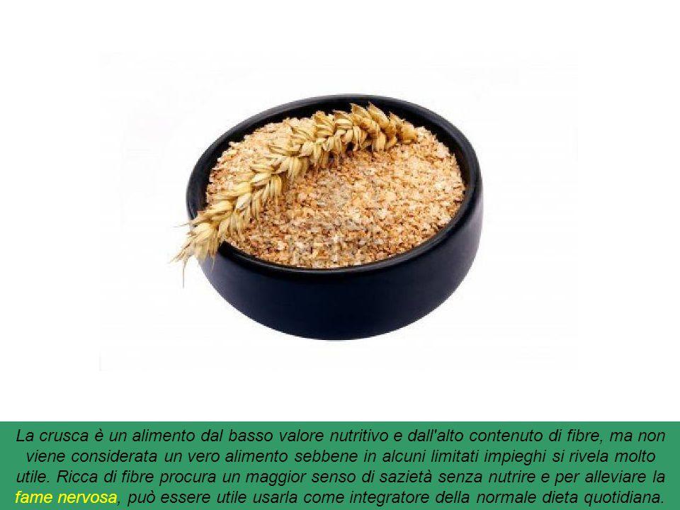 Crusca : È un residuo della fabbricazione della farina di graminacee: frumento, orzo, segale, avena e altri cereali. L'alimentazione umana è costituit