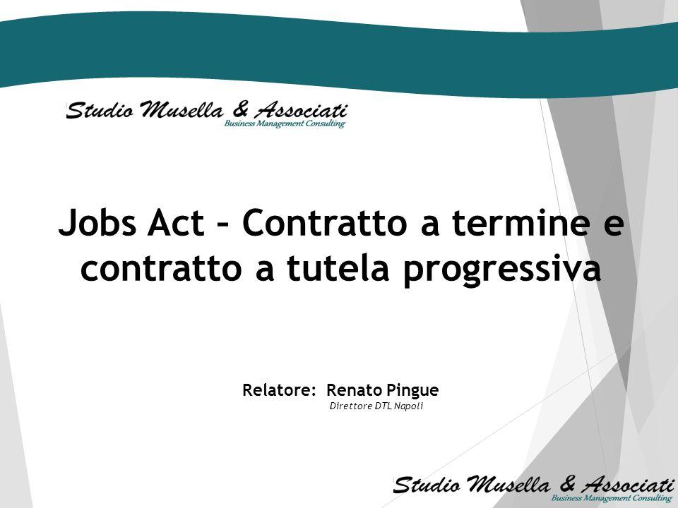 6 novembre 2014 Convegno di studio Il percorso alternativo verso il lavoro stabile