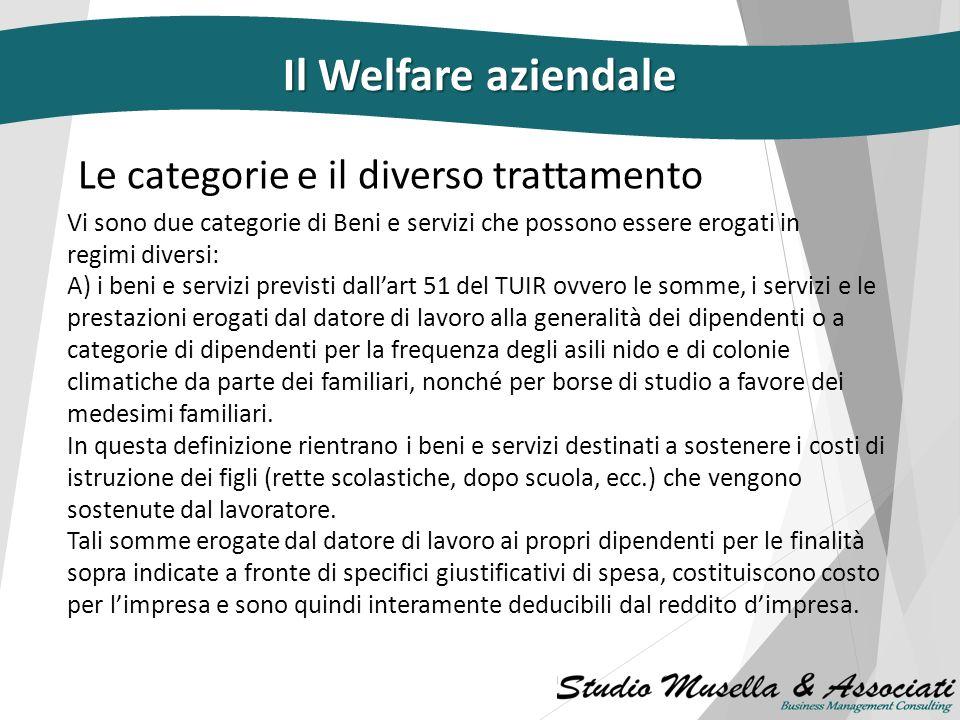 I Flexible benefits….e il piano di welfare Beni e servizi la cui messa a disposizione da parte del datore di lavoro ai propri dipendenti (il datore di