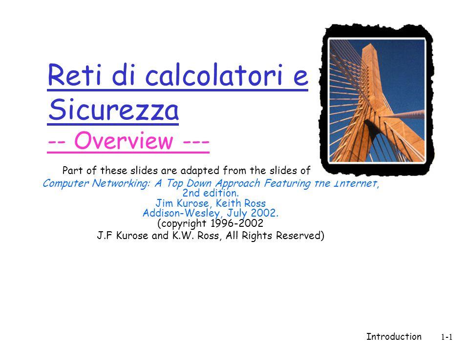 Introduction1-82 Sommario  Internet: un po' di Storia