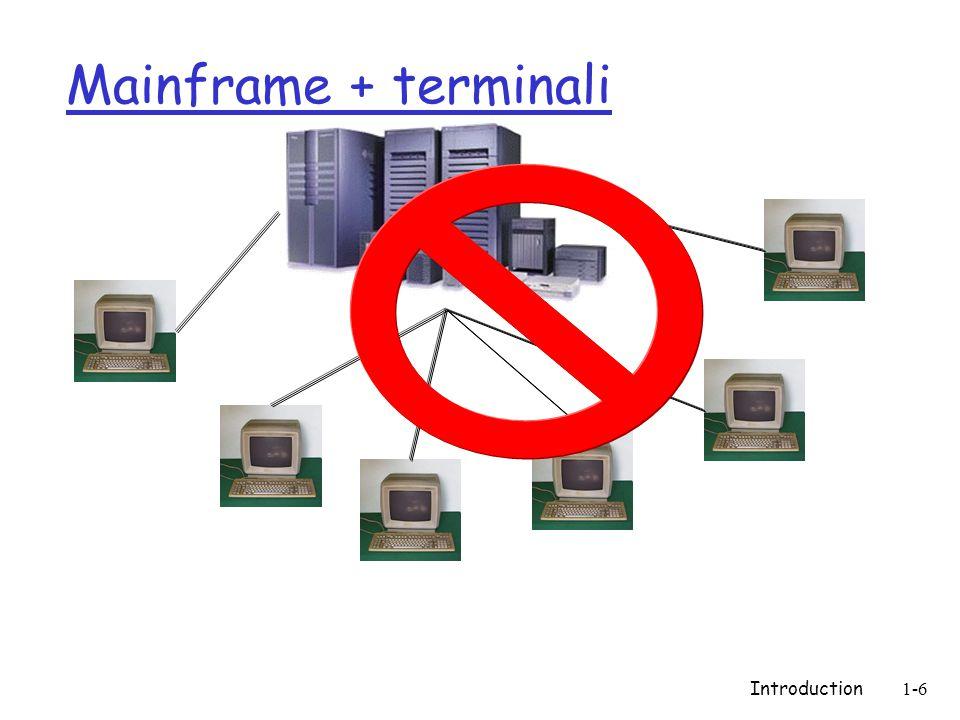 Introduction1-87 Funzionamento di ARPANET  Ogni singolo pacchetto è un'entità a se stante, dotata di una serie di informazioni  Dopo una serie di passaggi tra i vari nodi, tutti i pacchetti inviati da A giungono al nodo G, e ricomposti nel messaggio originale  Qualunque sia lo stato della rete, c'è una via alternativa per giungere alla propria destinazione