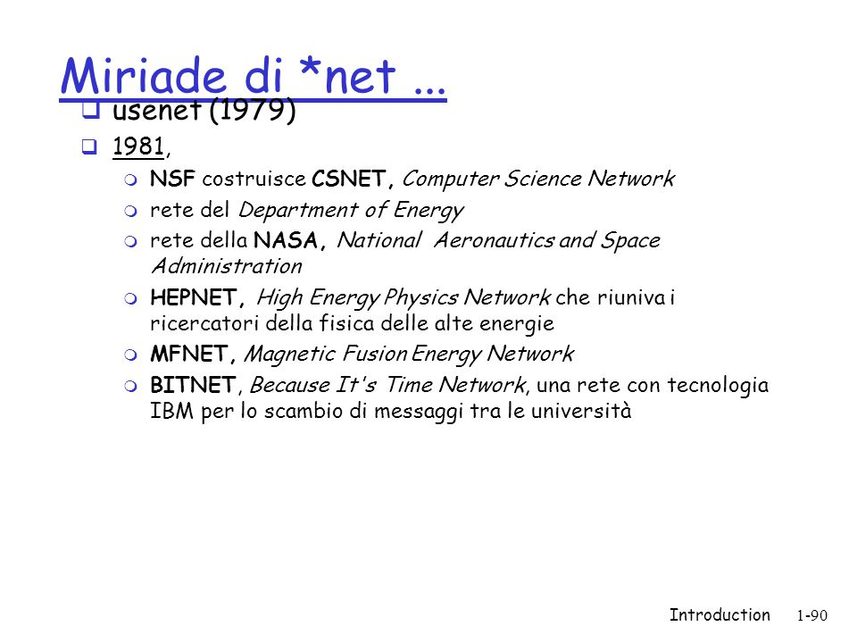 Introduction1-90 Miriade di *net...