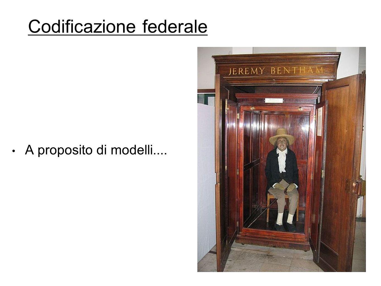 Codificazione federale A proposito di modelli....