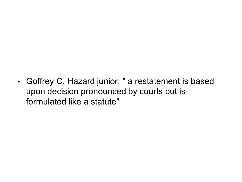 Goffrey C. Hazard junior: