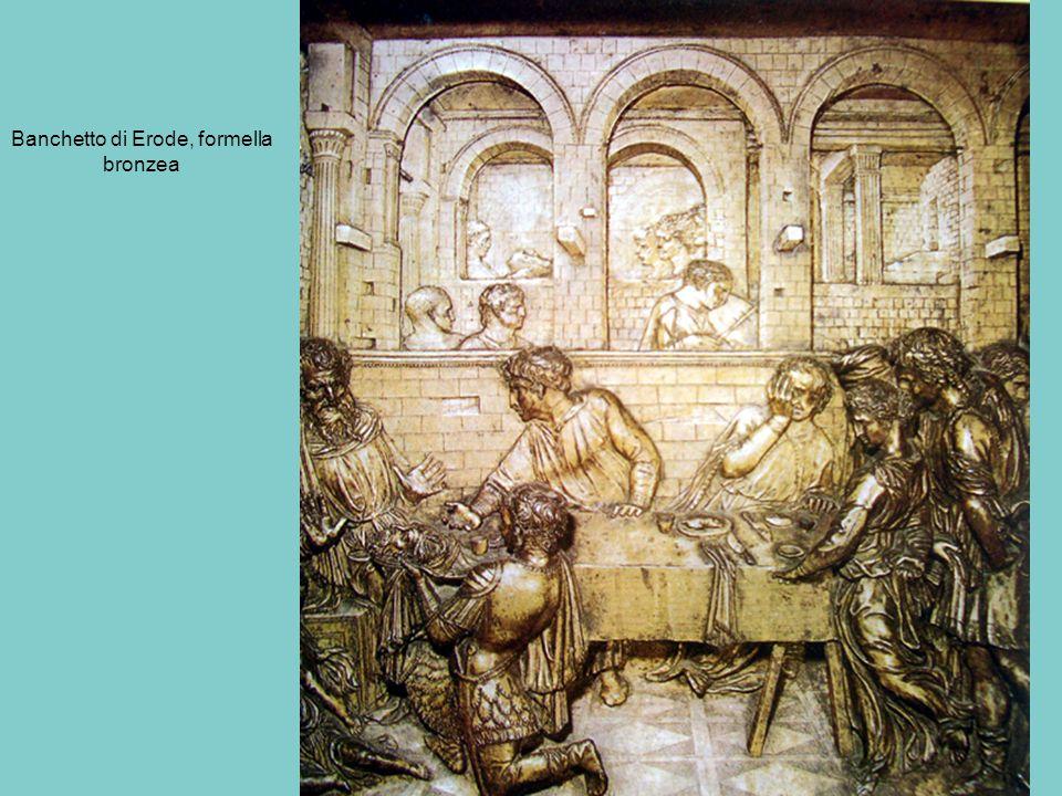 Banchetto di Erode, formella bronzea