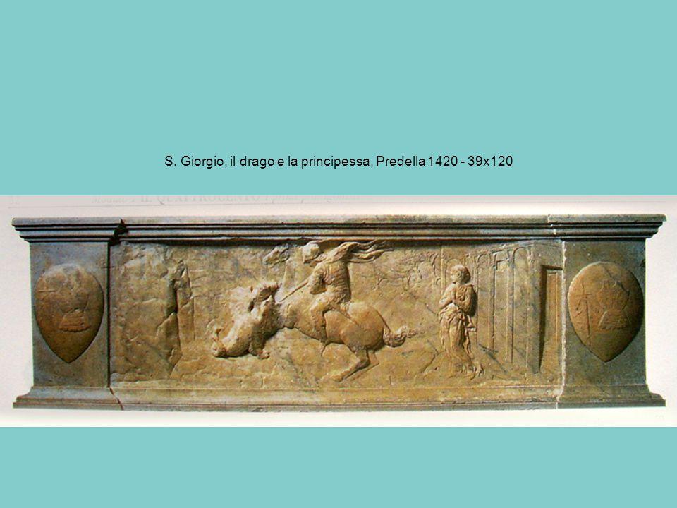 S. Giorgio, il drago e la principessa, Predella 1420 - 39x120