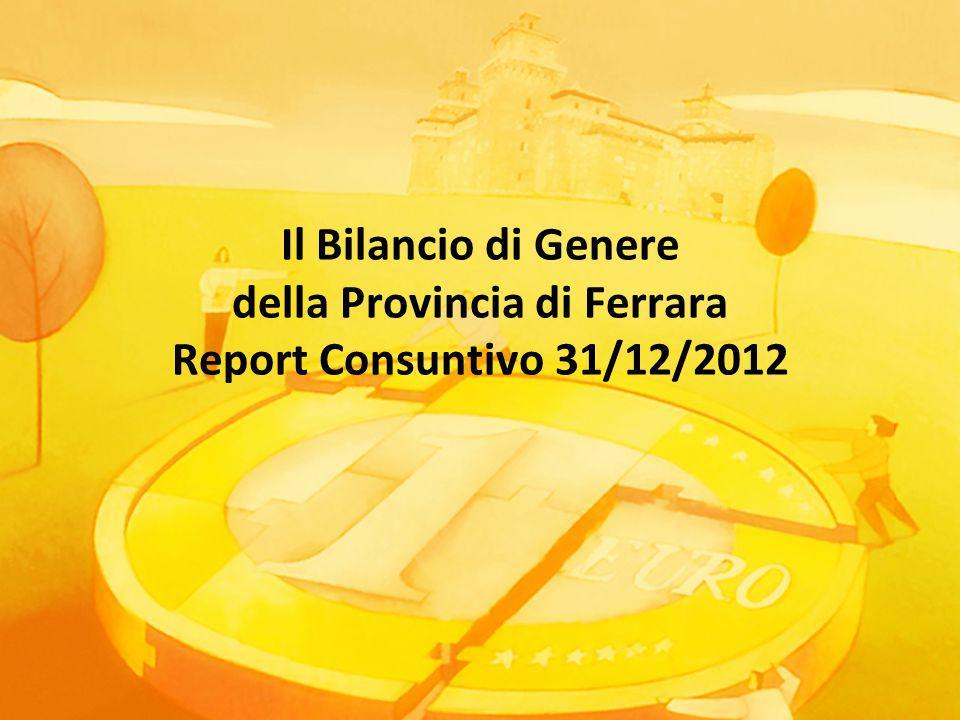 Il Bilancio di Genere della Provincia di Ferrara Report Consuntivo 31/12/2012