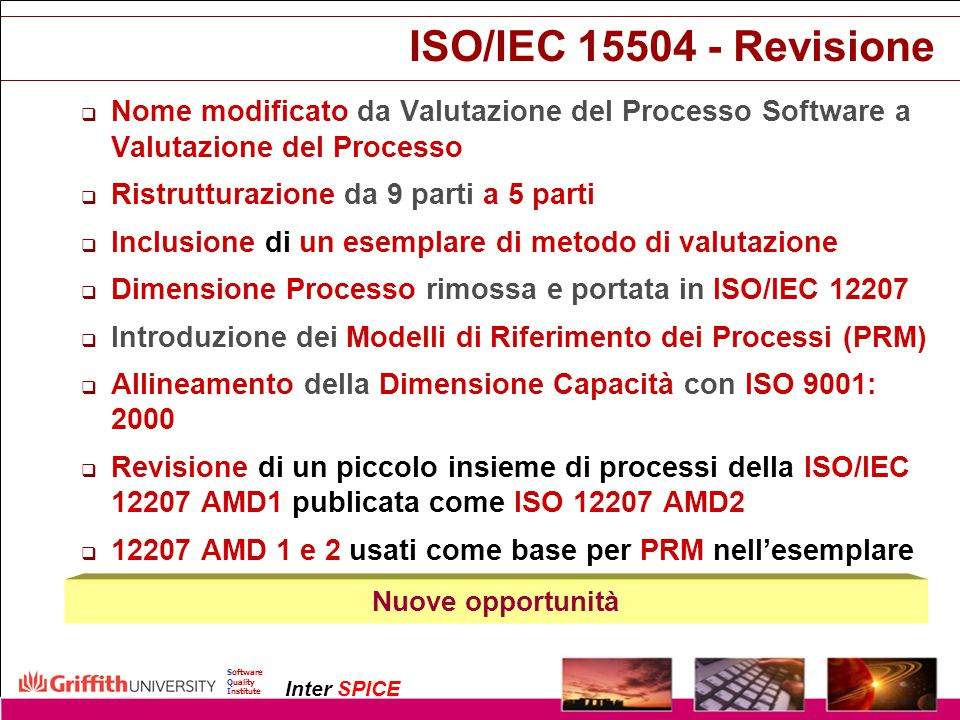 Copyright InterSPICE Ltd.ISO/IEC 15504 (SPICE): Current and Future Directions1 December 2003 Software Quality Institute Inter SPICE ISO/IEC 15504 - Re