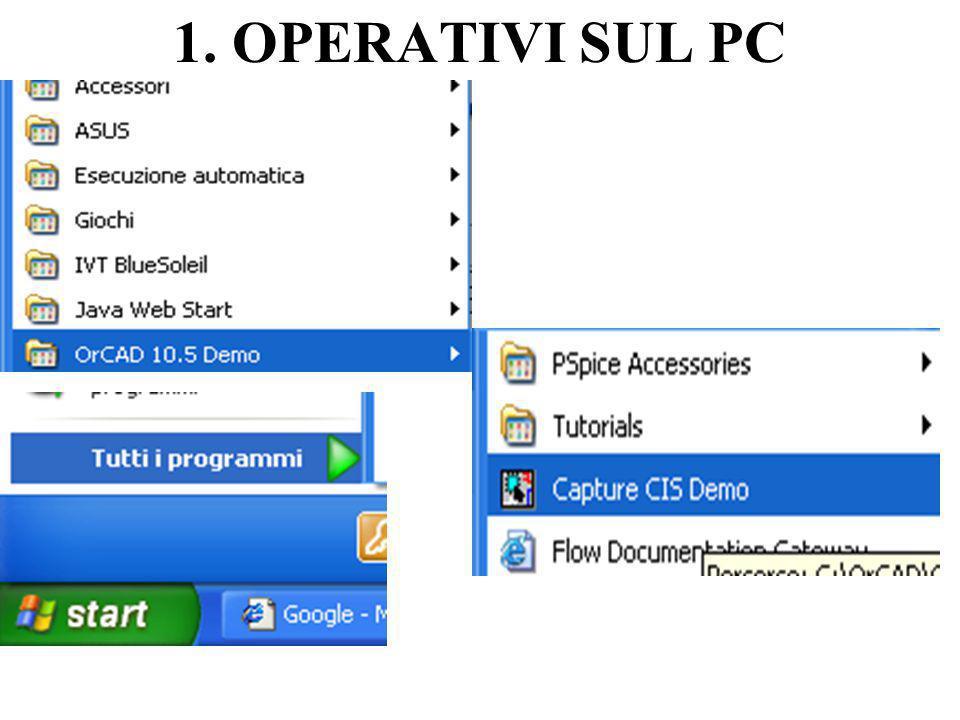 1. OPERATIVI SUL PC