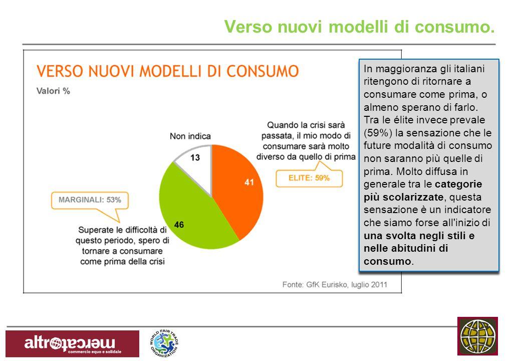 Verso nuovi modelli di consumo.