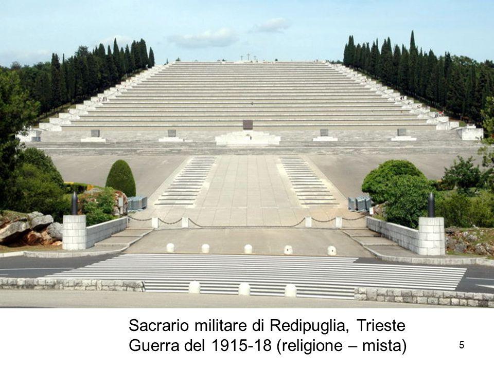 Sacrario militare di Redipuglia, Trieste Guerra del 1915-18 (religione – mista) 5