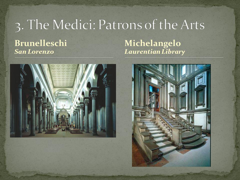 Brunelleschi San Lorenzo Michelangelo Laurentian Library