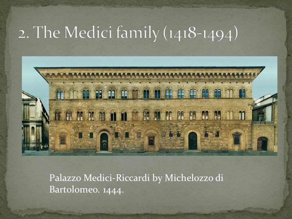 Palazzo Medici-Riccardi by Michelozzo di Bartolomeo. 1444.