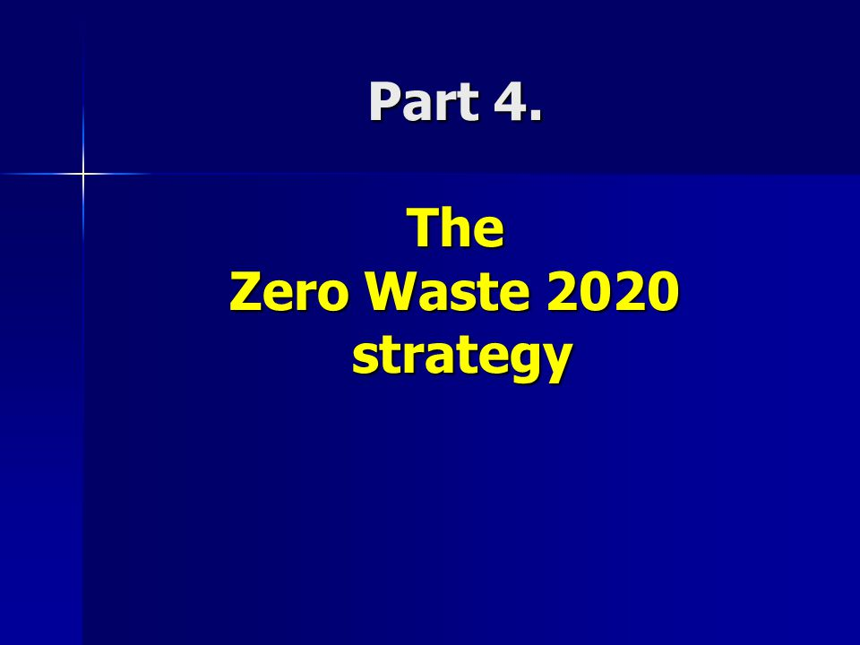 Part 4. The Zero Waste 2020 strategy