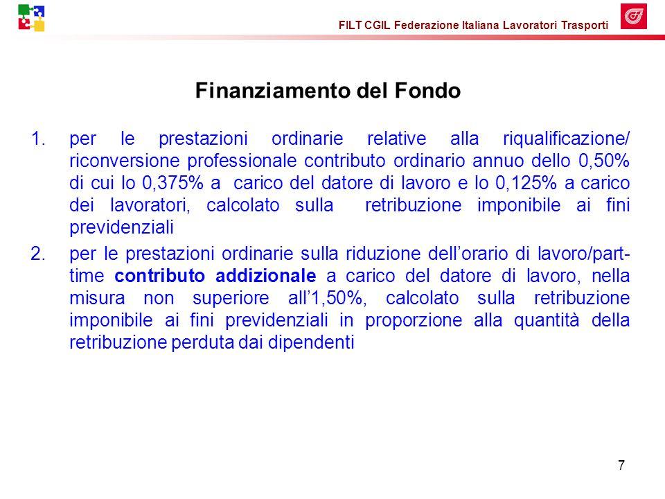 FILT CGIL Federazione Italiana Lavoratori Trasporti 18 Gestione delle eccedenze L'azienda, al termine della procedura sindacale, adotterà per la gestione degli esuberi i seguenti strumenti.