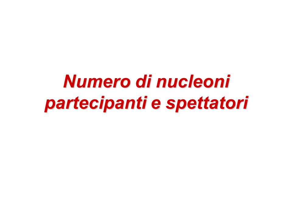 Numero di nucleoni partecipanti e spettatori