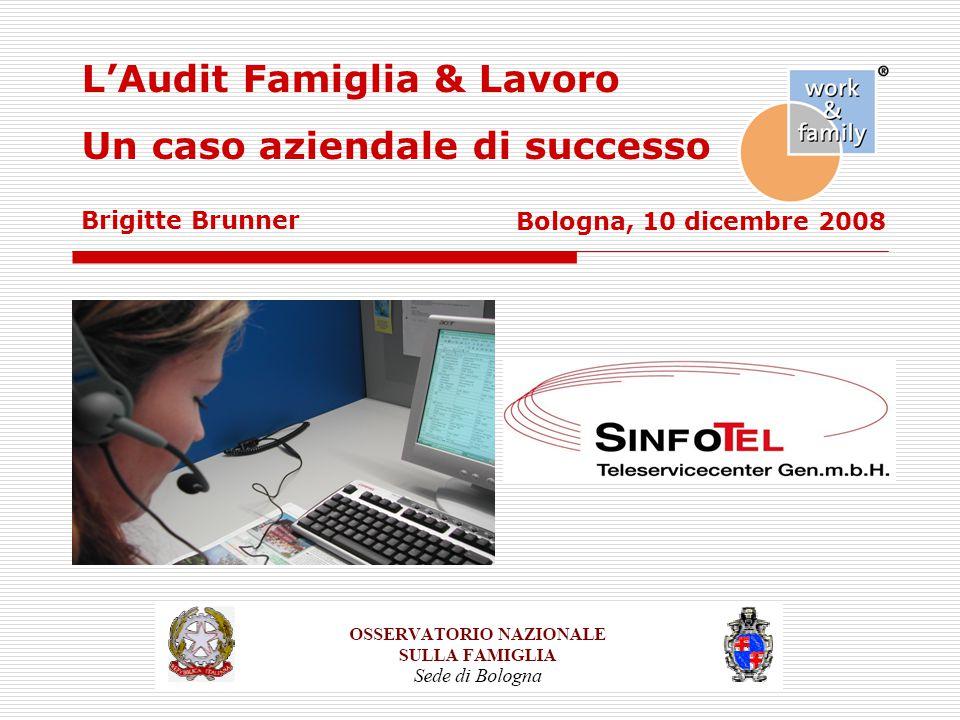Bologna, 10 dicembre 2008 L'Audit Famiglia & Lavoro Un caso aziendale di successo Brigitte Brunner