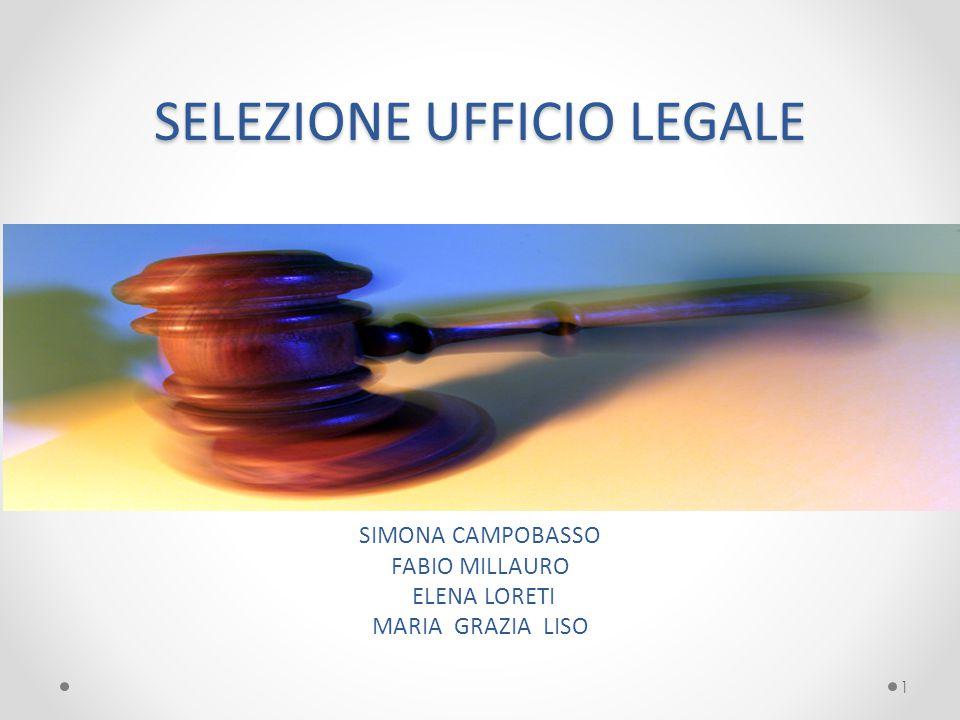 SELEZIONE UFFICIO LEGALE SIMONA CAMPOBASSO FABIO MILLAURO ELENA LORETI MARIA GRAZIA LISO 1