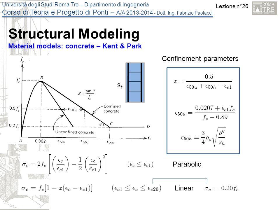 Lezione n°26 Università degli Studi Roma Tre – Dipartimento di Ingegneria Corso di Teoria e Progetto di Ponti – A/A 2013-2014 - Dott.