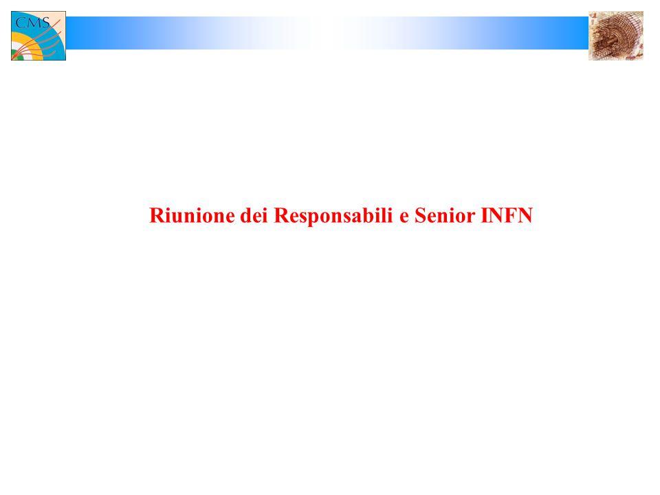 Riunione dei Responsabili e Senior INFN
