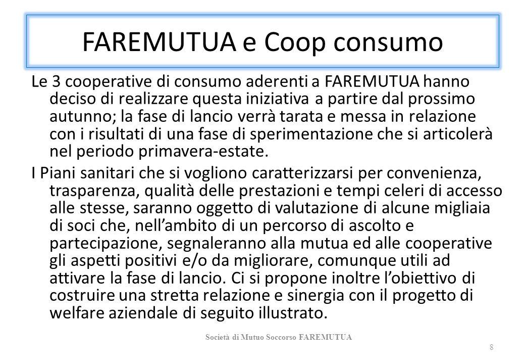 FAREMUTUA e Coop consumo Le 3 cooperative di consumo aderenti a FAREMUTUA hanno deciso di realizzare questa iniziativa a partire dal prossimo autunno;