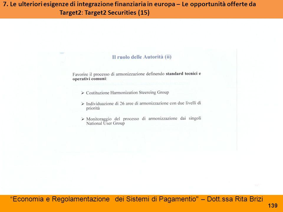 """""""Economia e Regolamentazione dei Sistemi di Pagamentio"""