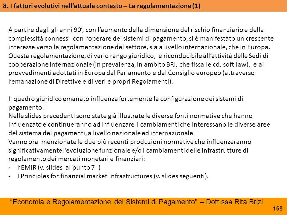 """""""Economia e Regolamentazione dei Sistemi di Pagamento"""