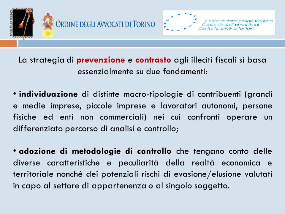 La strategia di prevenzione e contrasto agli illeciti fiscali si basa essenzialmente su due fondamenti: individuazione di distinte macro-tipologie di