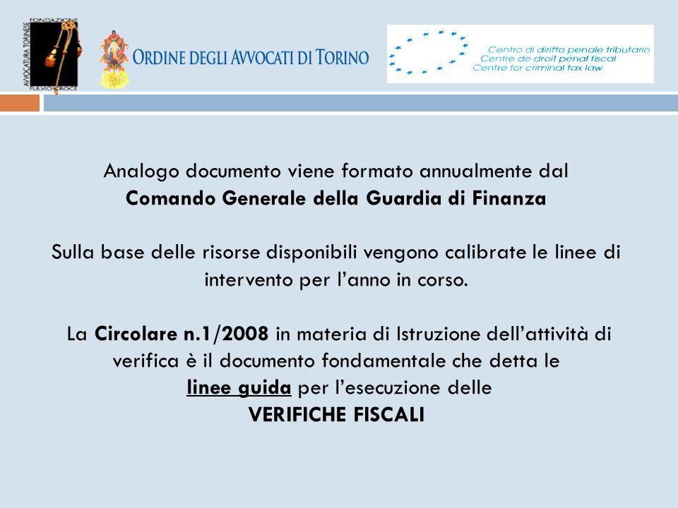METODI DI ACCERTAMENTO L'accertamento analitico - induttivo (art.
