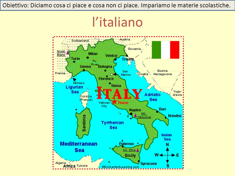 l'italiano Obiettivo: Diciamo cosa ci piace e cosa non ci piace. Impariamo le materie scolastiche.