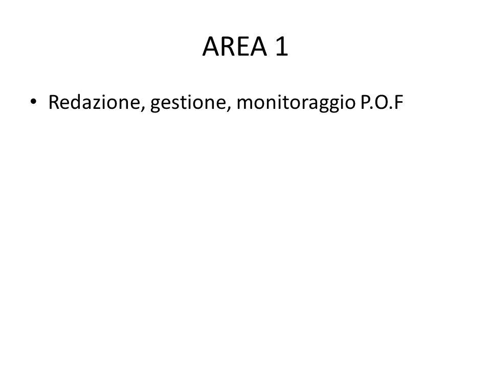 AREA 1 Redazione, gestione, monitoraggio P.O.F