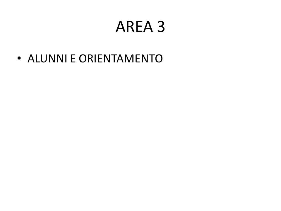 AREA 3 ALUNNI E ORIENTAMENTO