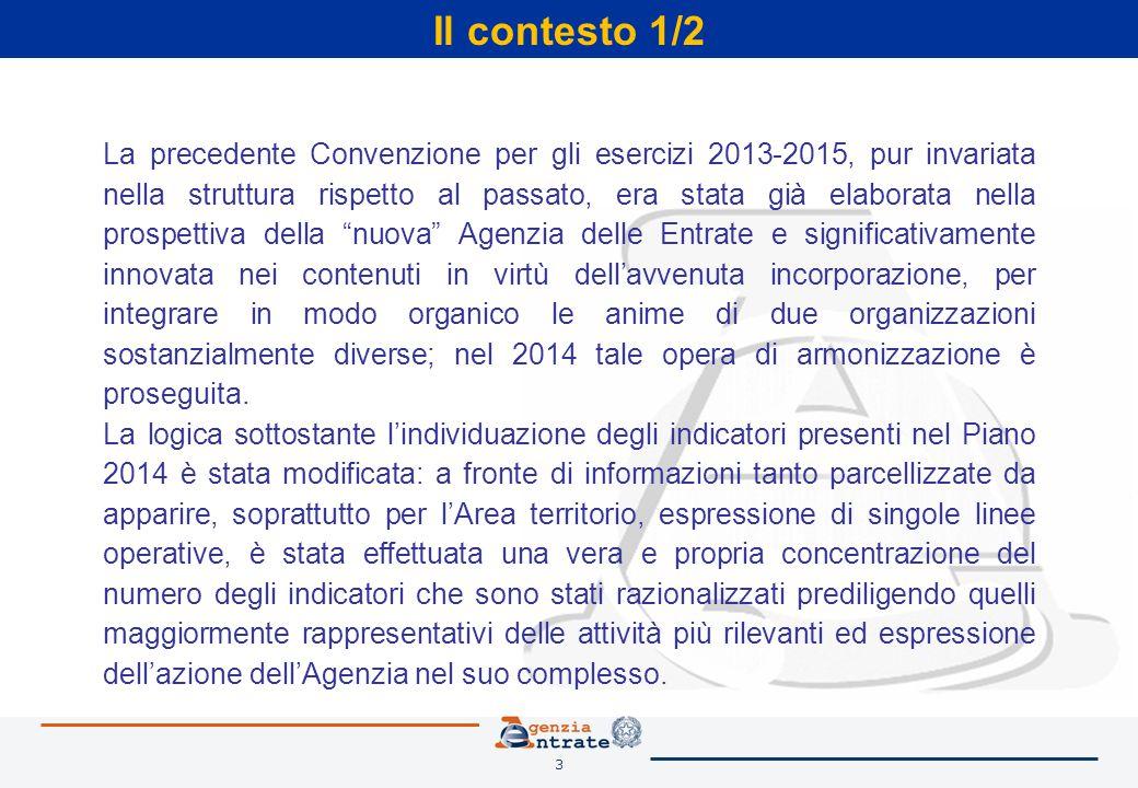 3 Il contesto 1/2 La precedente Convenzione per gli esercizi 2013-2015, pur invariata nella struttura rispetto al passato, era stata già elaborata nel