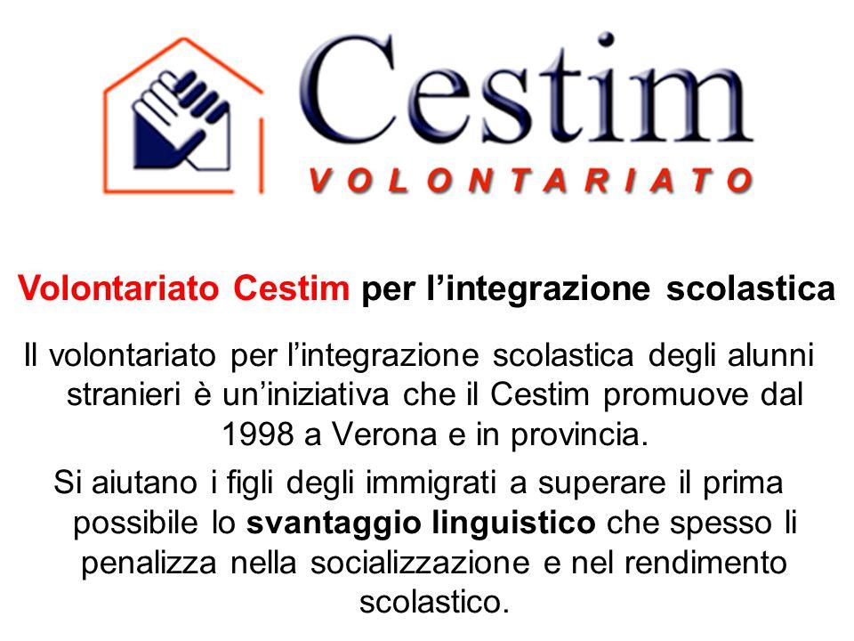 Il volontariato per l'integrazione scolastica degli alunni stranieri è un'iniziativa che il Cestim promuove dal 1998 a Verona e in provincia. Si aiuta