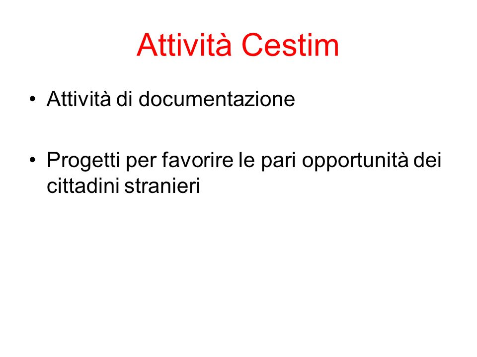 Attività di documentazione 1.
