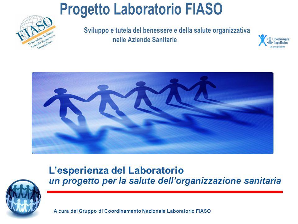 L'esperienza del Laboratorio un progetto per la salute dell'organizzazione sanitaria A cura del Gruppo di Coordinamento Nazionale Laboratorio FIASO