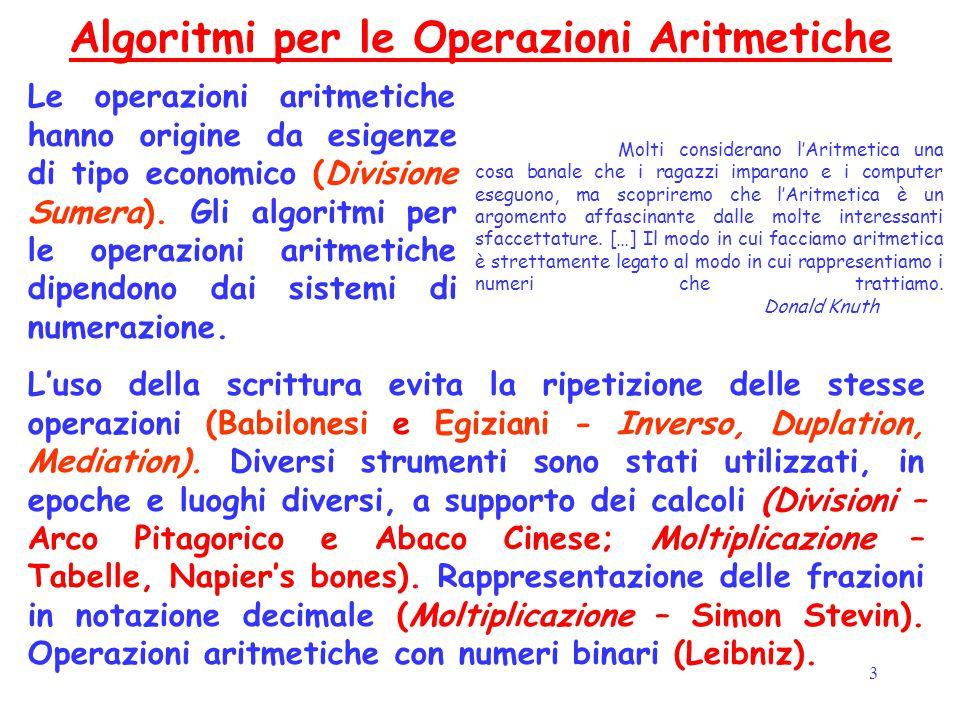 3 Molti considerano l'Aritmetica una cosa banale che i ragazzi imparano e i computer eseguono, ma scopriremo che l'Aritmetica è un argomento affascina