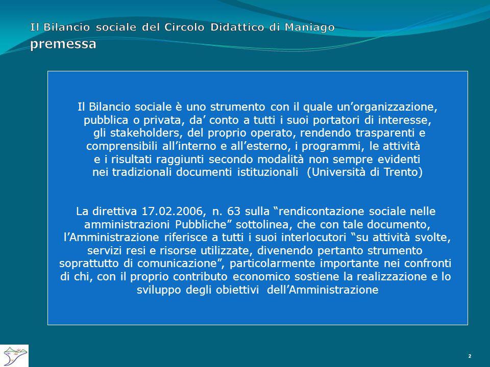 Il Bilancio sociale del Circolo Didattico di Maniago LE VALUTAZIONI