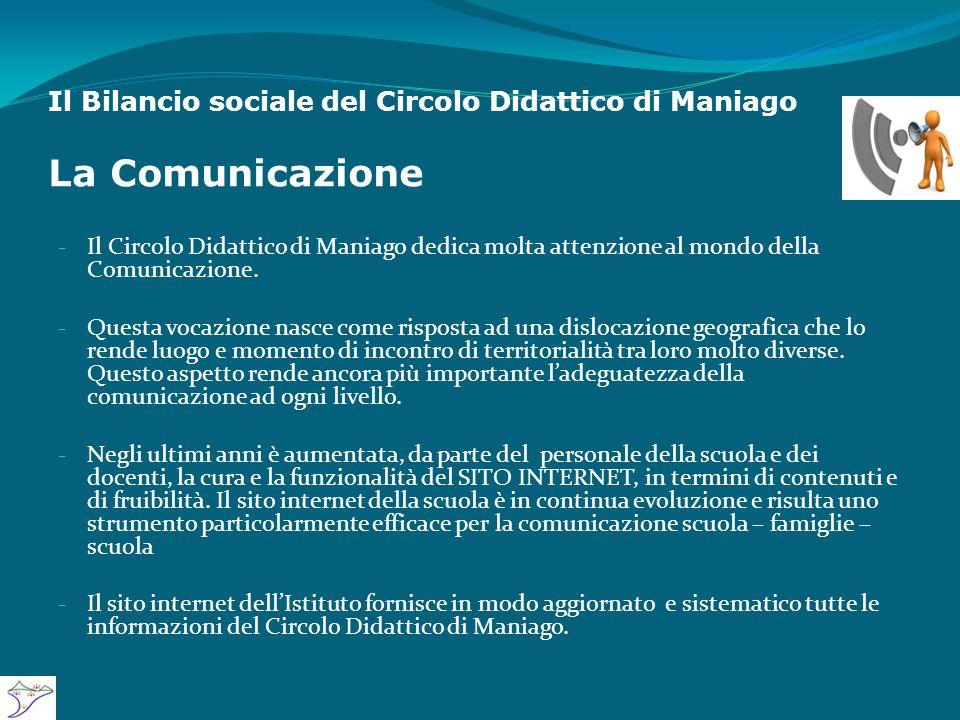 Il Bilancio sociale del Circolo Didattico di Maniago La Comunicazione - Il Circolo Didattico di Maniago dedica molta attenzione al mondo della Comunicazione.