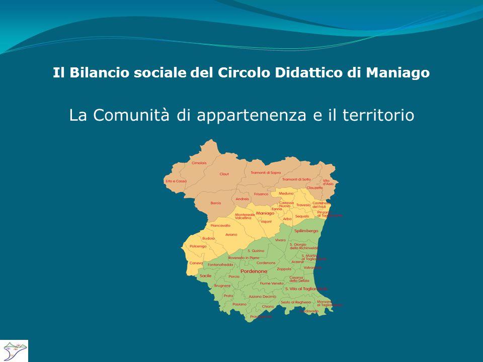 Il Bilancio sociale del Circolo Didattico di Maniago La Comunità di appartenenza e il territorio