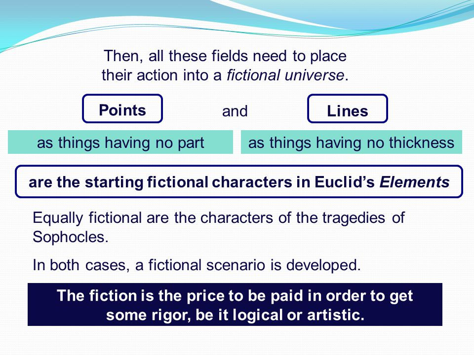 Points and are the starting fictional characters in Euclid's Elements as things having no thickness Lines Then, all these fields need to place their a