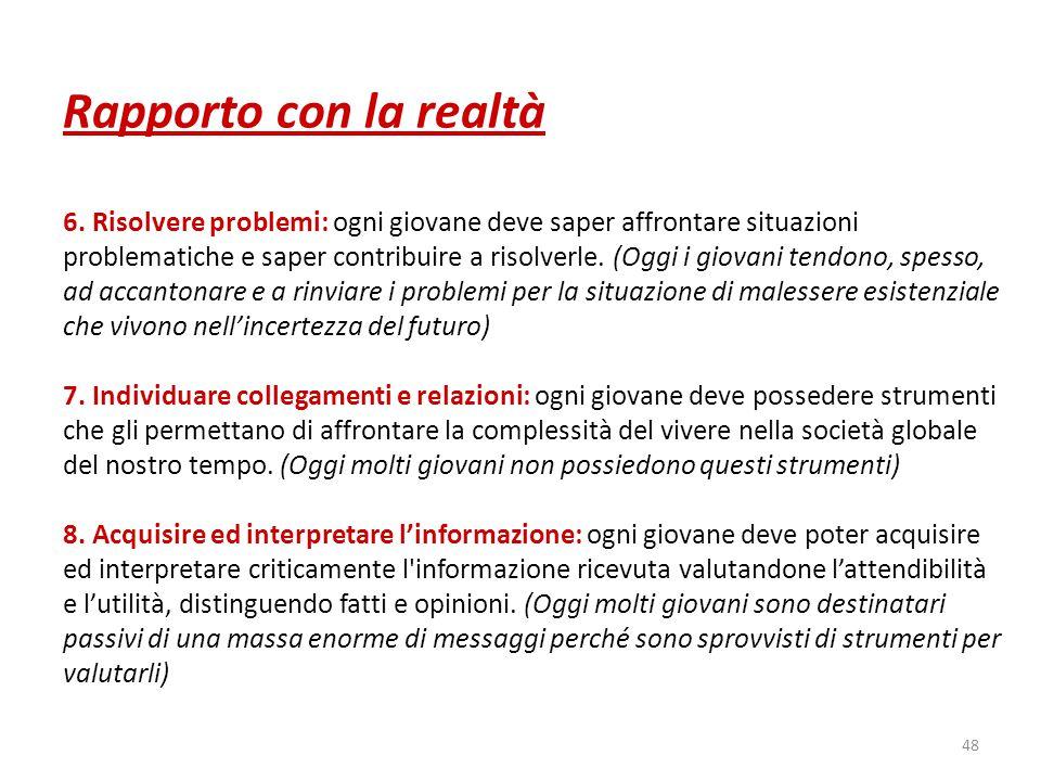 48 Rapporto con la realtà 6.
