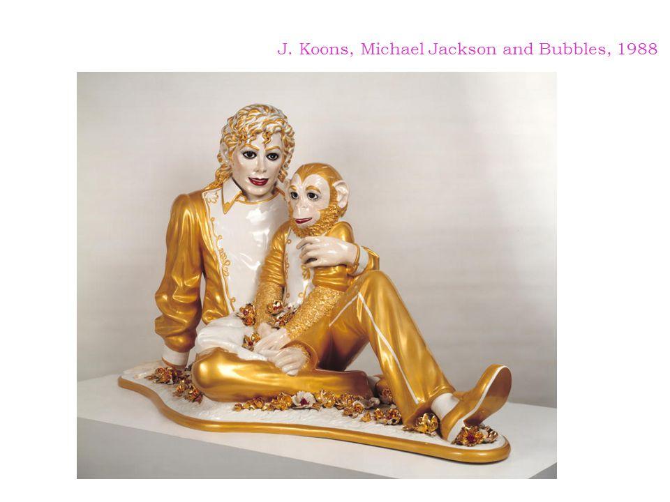 J. Koons, Michael Jackson and Bubbles, 1988