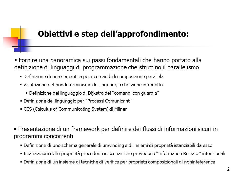 2 Obiettivi e step dell'approfondimento:  Fornire una panoramica sui passi fondamentali che hanno portato alla definizione di linguaggi di programmaz