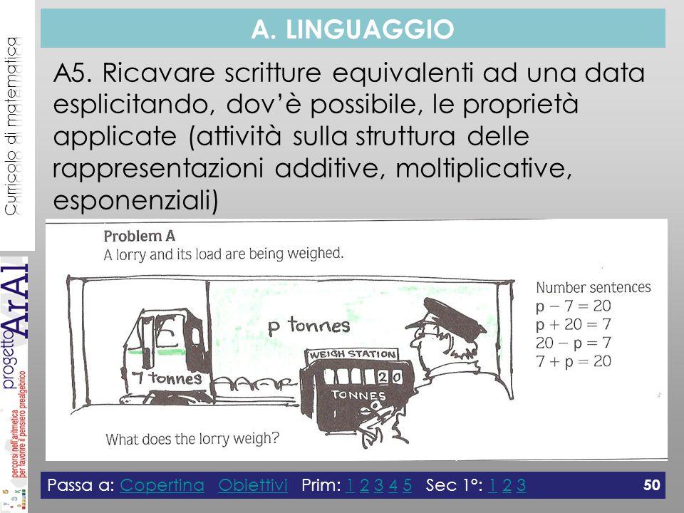 A. LINGUAGGIO A5.