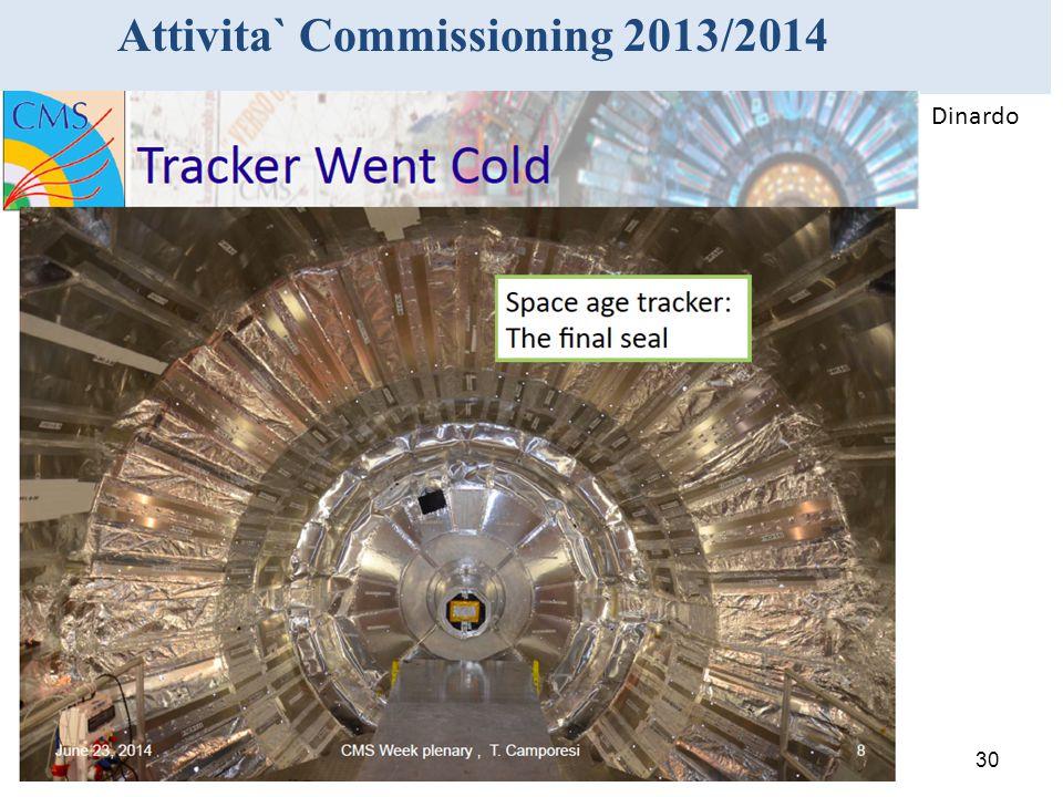 30 Attivita` Commissioning 2013/2014 Dinardo