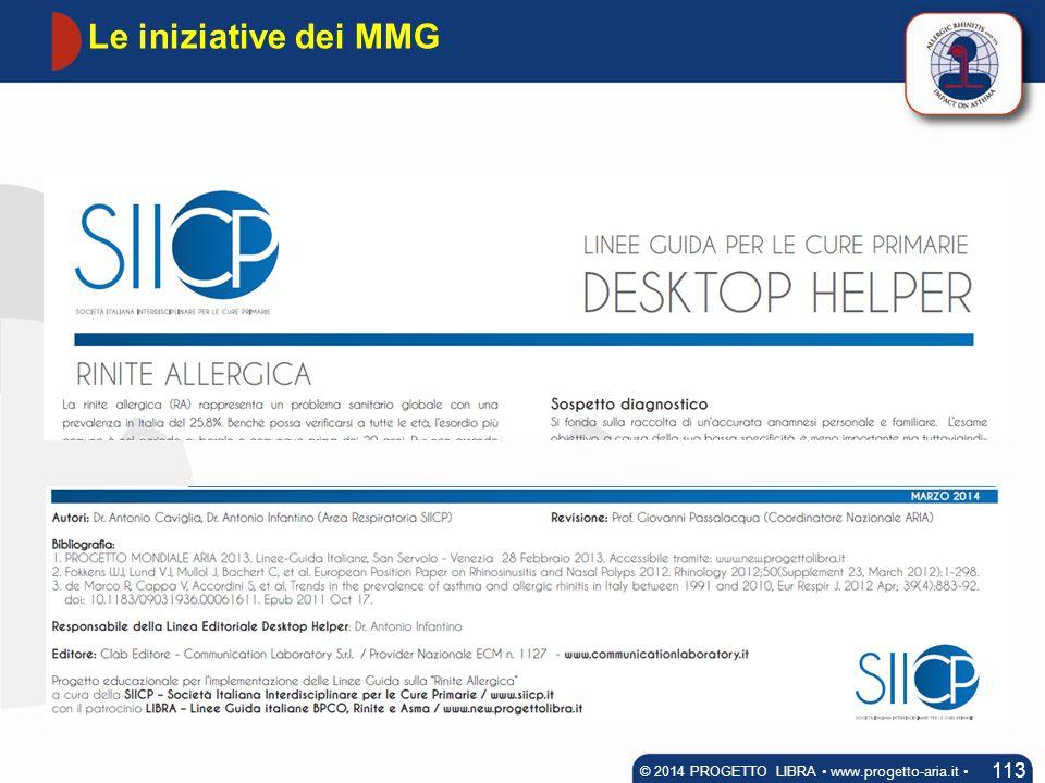 Le iniziative dei MMG 113 © 2014 PROGETTO LIBRA www.progetto-aria.it