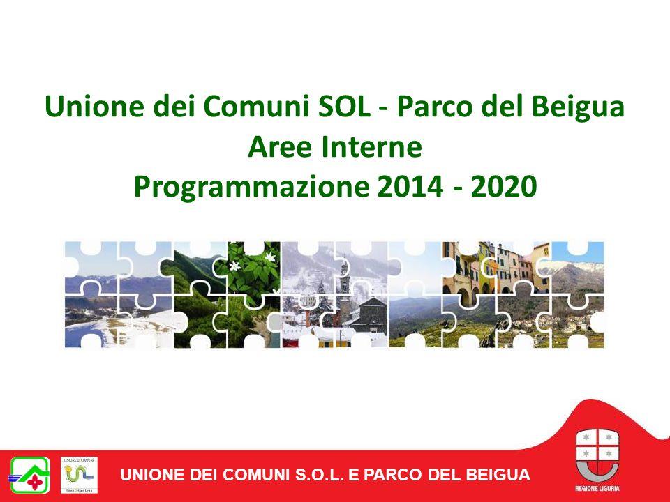 Unione dei Comuni SOL - Parco del Beigua Aree Interne Programmazione 2014 - 2020