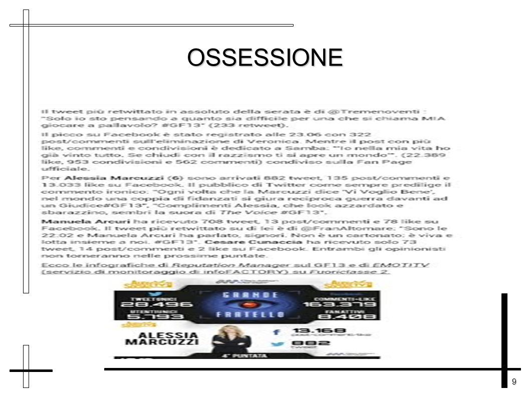 9 OSSESSIONE