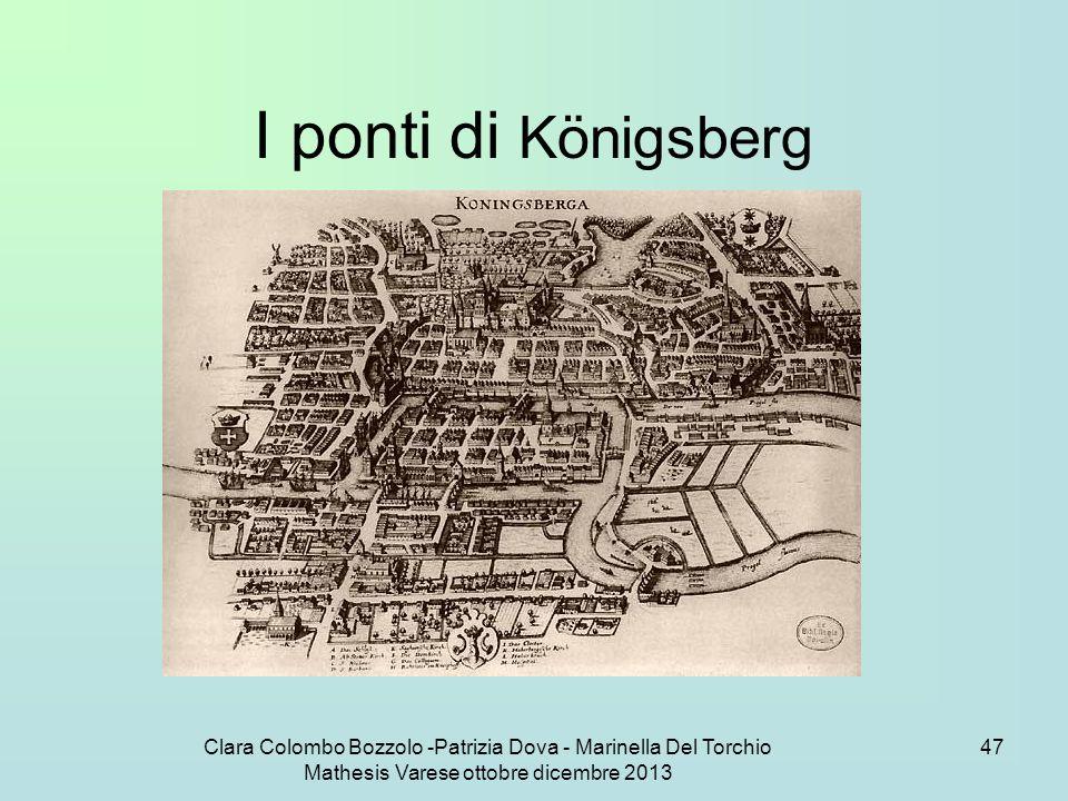 Clara Colombo Bozzolo -Patrizia Dova - Marinella Del Torchio Mathesis Varese ottobre dicembre 2013 47 I ponti di Königsberg